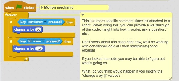IntGames - Commenting in Scratch - Specific Comment
