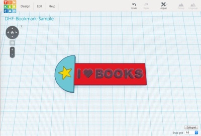 tinkercad-bookmark-complete
